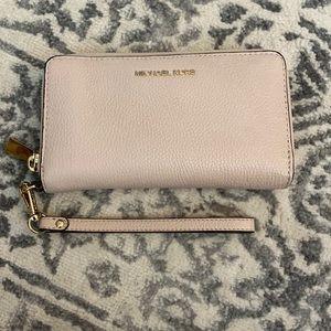 Michael Kors Leather Wallet Soft Pink